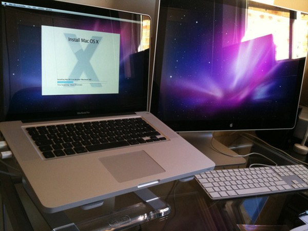 Macbook Pro and Cinema Display