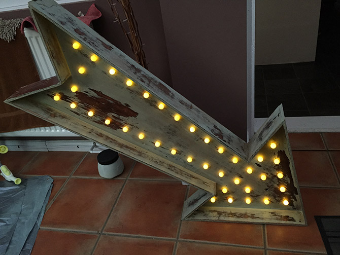 Very The Making Of My DIY Vintage Bulb Sign VX08